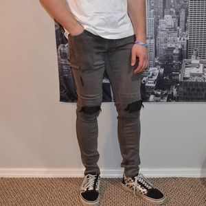 Skinniest Active Stretch Gray Jeans